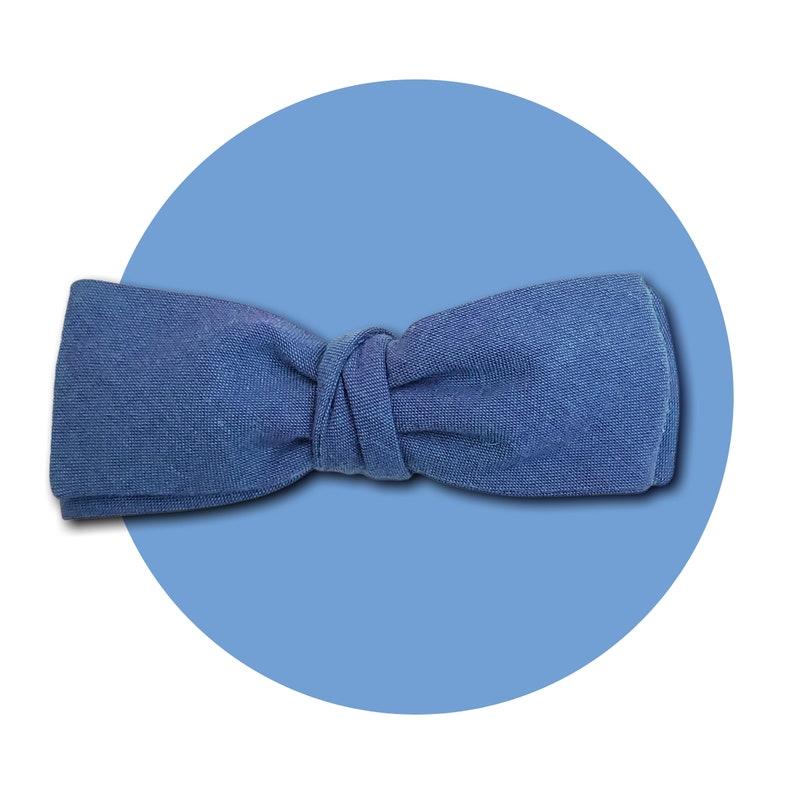 Blue Morpho Men's Self-Tie Traditional Bow Tie  Blue image 0