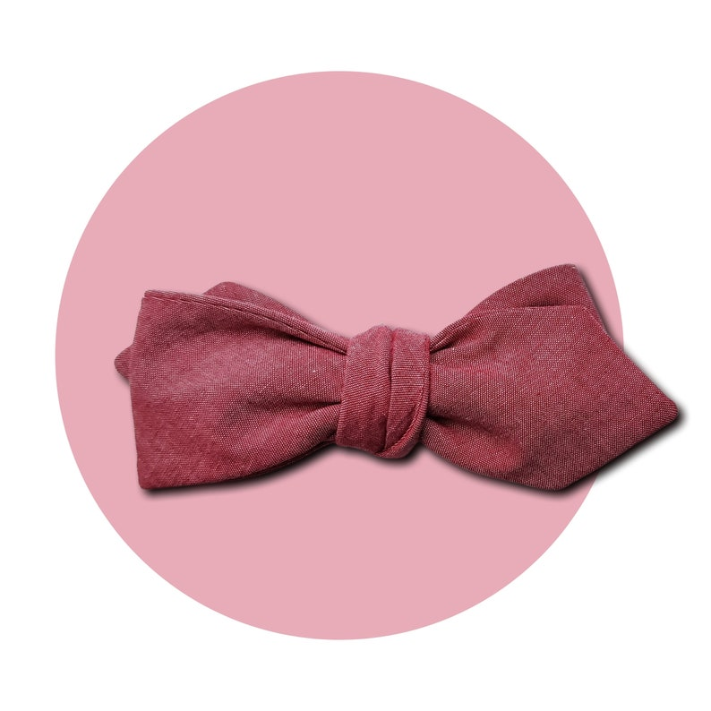 Red Shift Men's Self-Tie Pointed Bow Tie  Subtle Pink to image 0