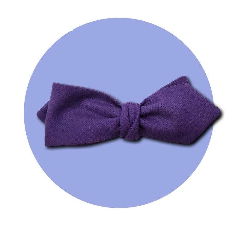 Purple Reign Men's Self-Tie Pointed Bow Tie  Rich Violet image 0