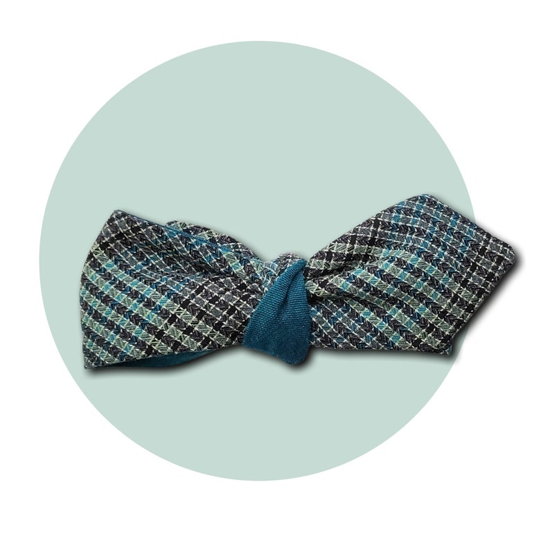 Teal-O-Drama Men's Self-Tie Reversible Pointed Bow Tie  image 0