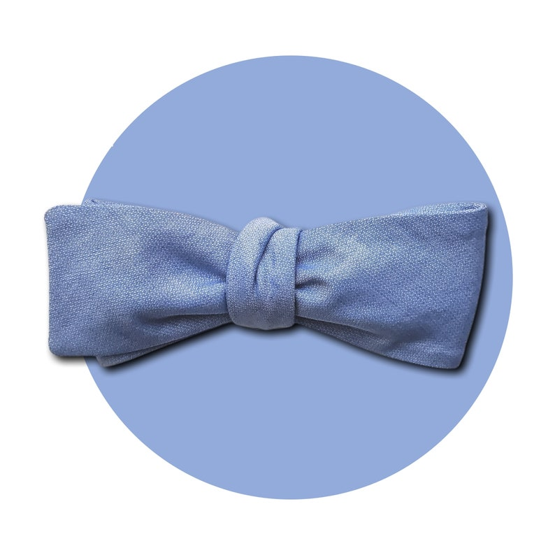 Blue Skies Men's Self-Tie Traditional Bow Tie  Light Blue image 0