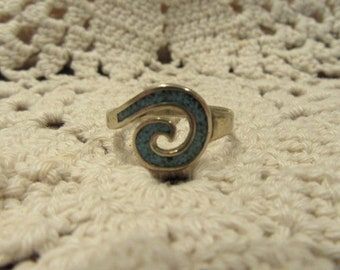 Turquoise Inlaid Sterling Silver Ring