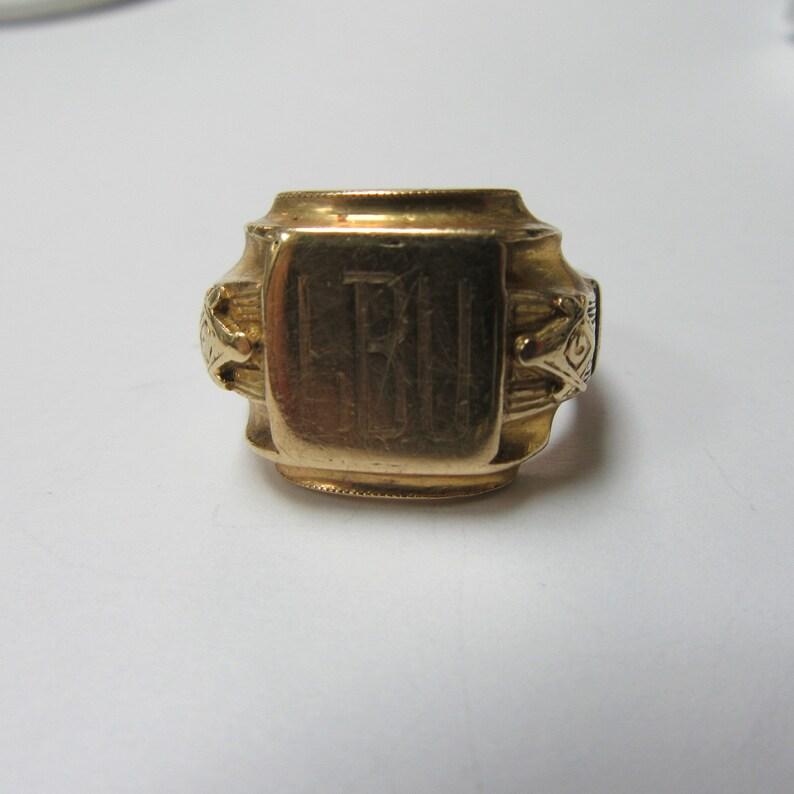 Masonic Ring Yellow Gold 9 1/2