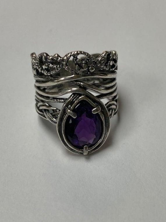 Amethyst Ring Sterling Silver Ring