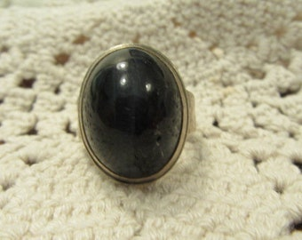 Blue Tiger Eye Sterling Silver Ring Cat's Eye Tiger Eye Chalcedony