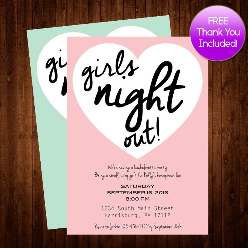 picture relating to Free Printable Bachelorette Party Invitations titled Women of all ages evening out, Printable Bachelorette Invitation, Red Seafoam Bachelorette Occasion Invitation Printable, Bachelorette Invite Free of charge THANK Oneself