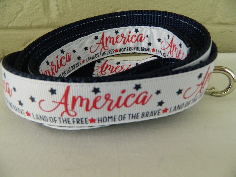 Land of the Free Home of the Brave Dog Leash America