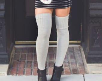 3d35408e8 Over the Knee Socks Tall Socks Gold Heart Womens Socks Gift Idea