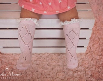 f86d9a8f3 Boot Socks for Baby or Child Knee High heart design Outfit Photo Prop