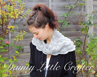 Light Grey Knitted Cowl/Ladies/Merino wool/ready to dispatch