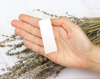Selenite Stick for Charging and Cleansing Crystals, Selenite Stone