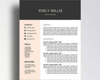 cv template etsy