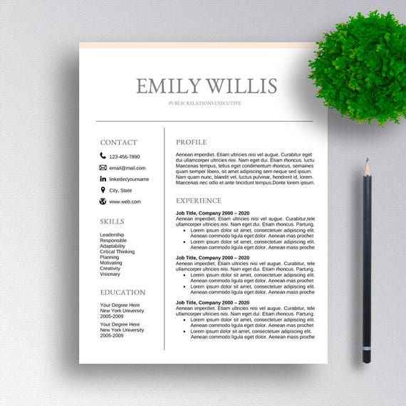 Sale Professional Resume Template Cv Template Cover Letter For Word Professional Resume Design Instant Download For Ms Word
