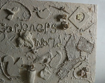 Messy art wall hanging.This one is for a garden lover.Titled Gardeners World.