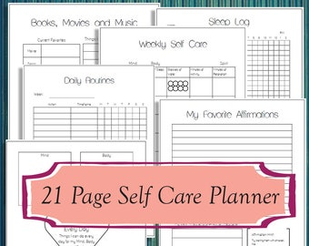 graphic relating to Printable Self Care Plan identified as Self treatment coloring Etsy