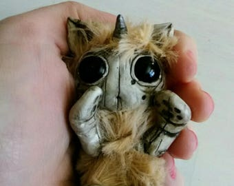 Cute Furry Creature Sculpture