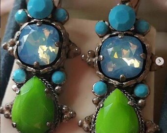 Vintage Franck Herval Bijoux Earrings, Made in France.
