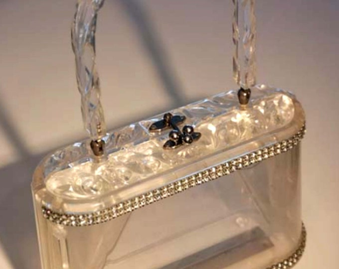 Featured listing image: Rare! 50s Vintage Lucite Bag Wiesner of Miami, Florida Handbags - Book Piece.