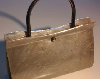 Vintage 50's Lucite Bag Champagne Colour Marble Swirls