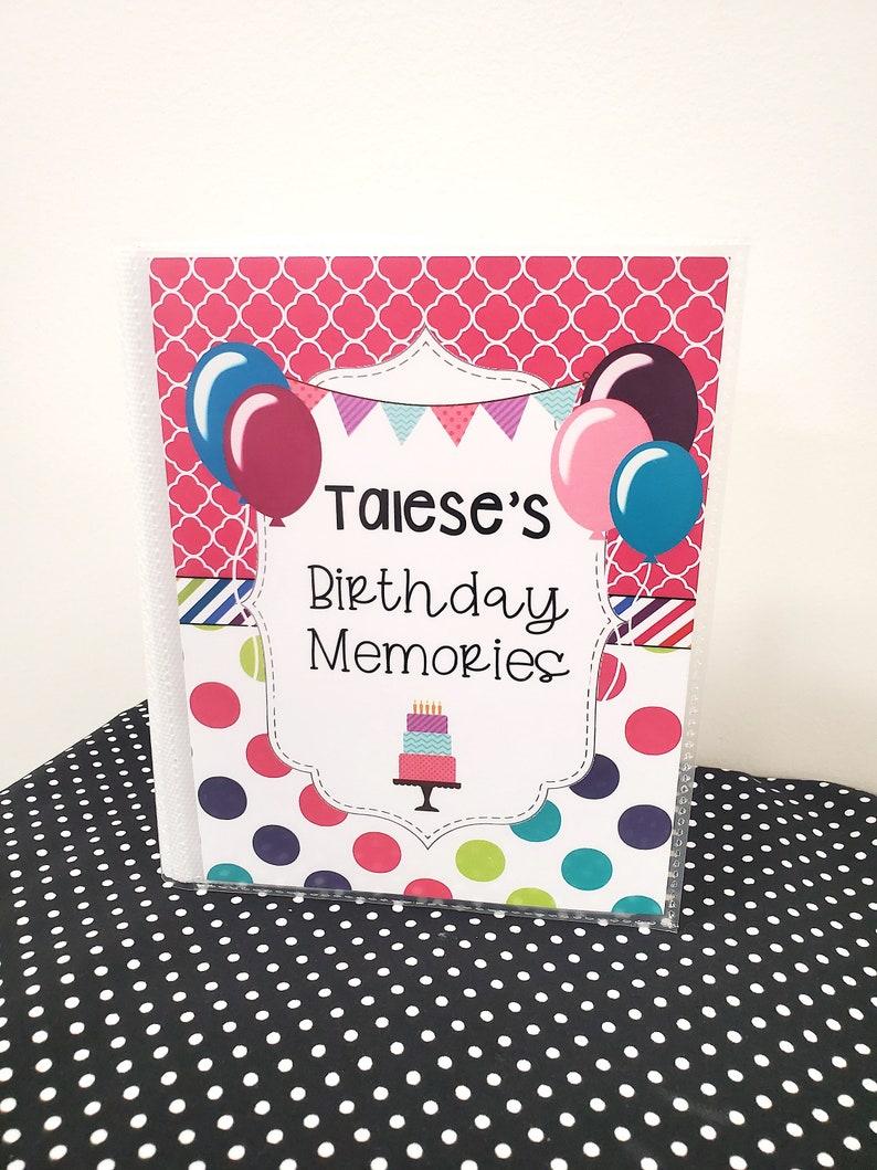 Birthday Girl Memory Book-Photo Album-Photo Keepsakes-Personalize-48 photos-Memory Album-Pink photo book-Happy Birthday-memories