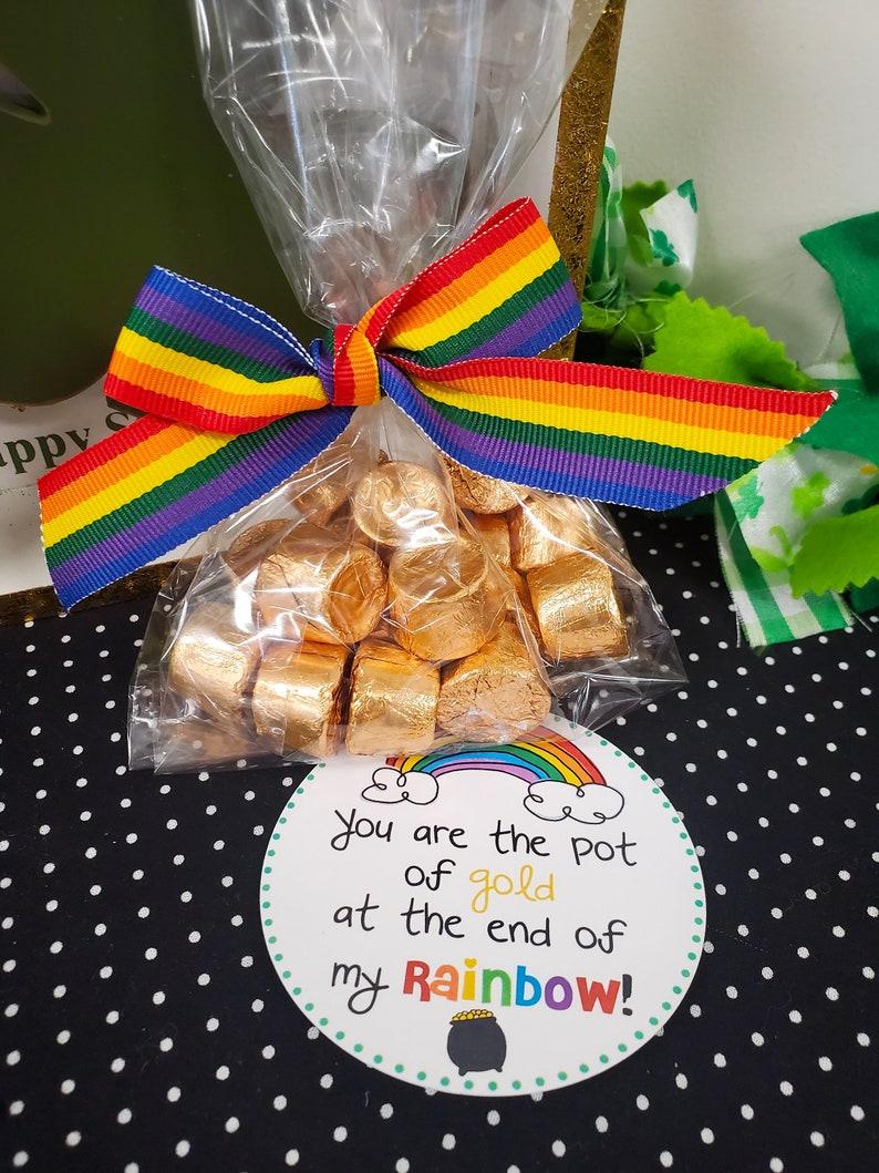 Patrick/'s Day Printables-Digital Download-Happy St Patrick/'s Day party decor You Are the Pot of Gold at the End of My Rainbow gift tags-St