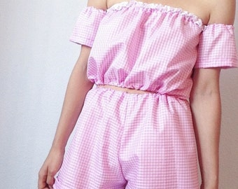 Pink Gingham Co-ord