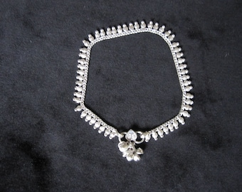 Silver pineapple ankle chain (13)