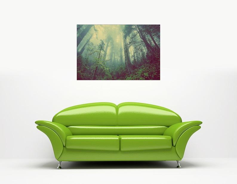 40 X 30 101CM X 76CM Misty Forest Landscape Canvas Art Prints Home Decoration Framed Pictures Modern Art Posters Nature Photos Size