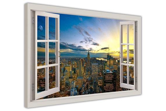 Hamburg Germany City 3D Window Bay Effect Poster Art Wall Prints Home Decoration