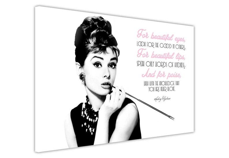 Audrey Hepburn Schöne Zitat Foto Auf Leinwand Gerahmte Drucke Etsy
