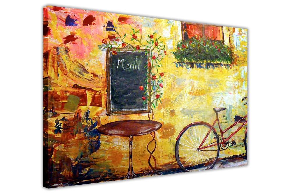 Idyllische Cafe Gerahmte Leinwand Wand Bilder Kunst Drucke | Etsy
