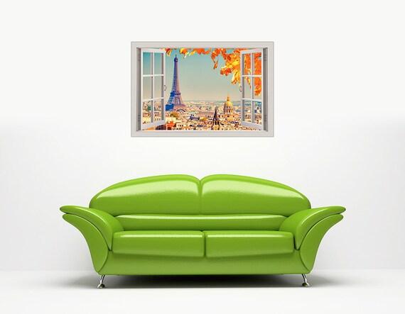EIFFEL TOWER SUNSHINE PARIS PICTURES WINDOW EFFECT FRAMED PRINTS CANVAS WALL ART
