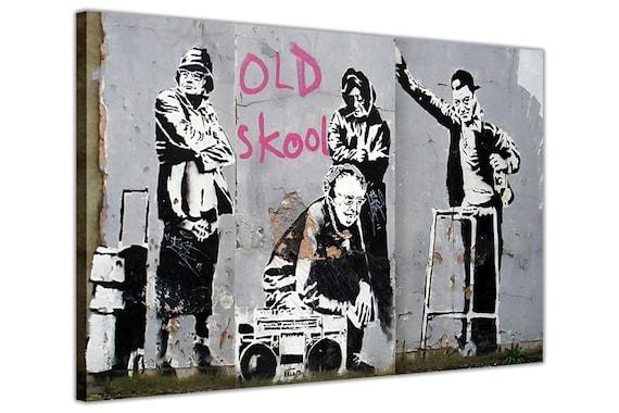 Banksy Street  DJ DONKEYS BLUE A1 SIZE PRINT  art painting Australia