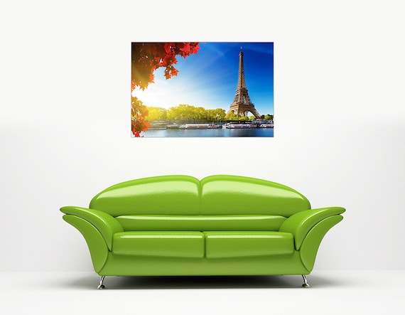 A4-12 X 8 BLACK AND WHITE PARIS EIFFEL TOWER PHOTO WITH RED UMBRELLA CANVAS PRINTS HOME DECORATION WALL ART SIZE 30CM X 20CM