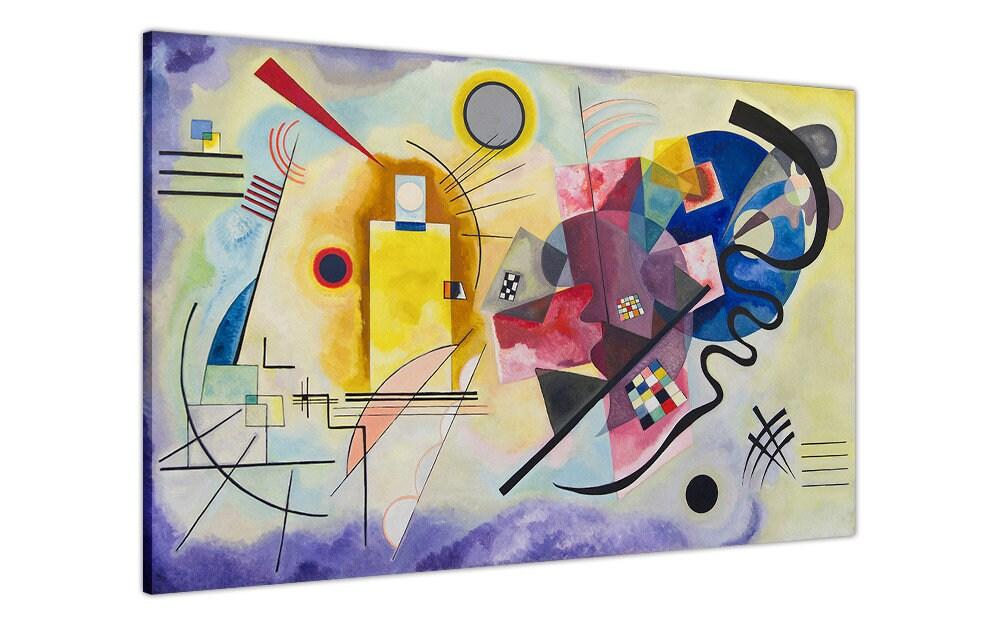 Berühmte Gemälde von Wassily Kandinsky gelb rot blau Nachdruck | Etsy