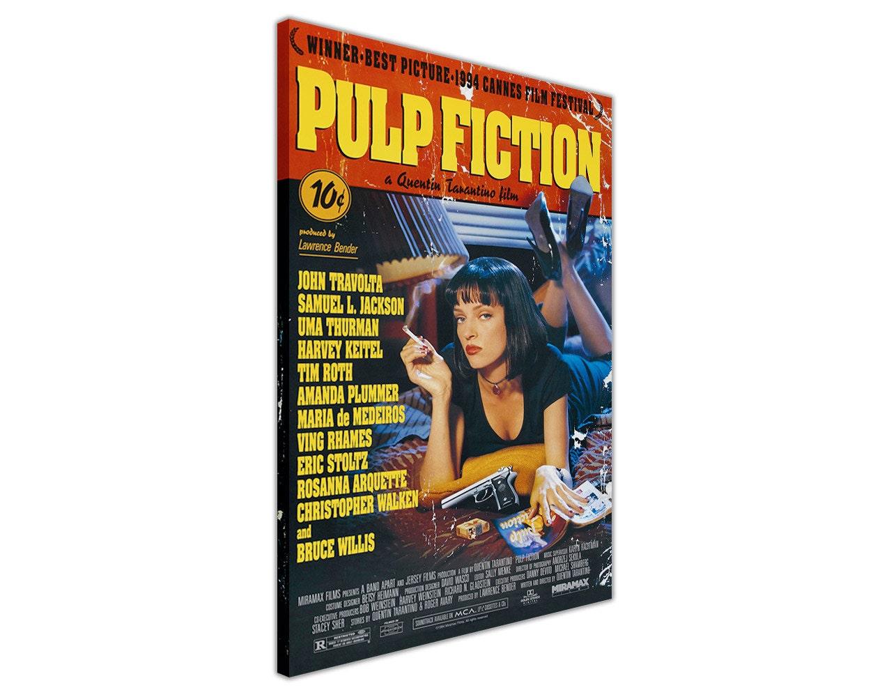 Ikonischen Pulp Fiction Film Poster gerahmt Canvas Prints Home Dekoration  Wandkunst Bilder Poster Film Bilder Ready To Hang 20MM Rahmen