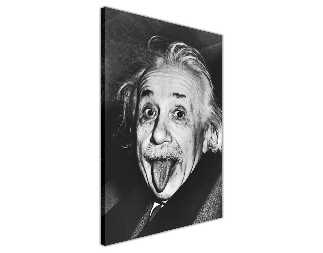 Berühmte schwarz-weiß Albert Einstein Zunge unsere lustige | Etsy