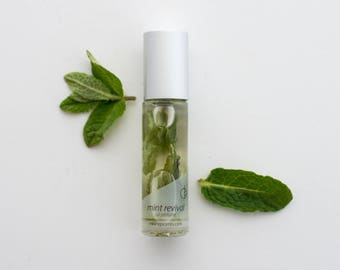 NEW Mint revival ~pure essential & fragrance oils with organic mint leaf, All natural perfume with no alcohol, synthetics or toxins