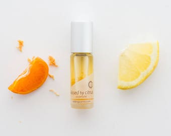 NEW Kissed by citrus ~pure essential & fragrance oils with organic citrus zest, All natural perfume with no alcohol, synthetics or toxins