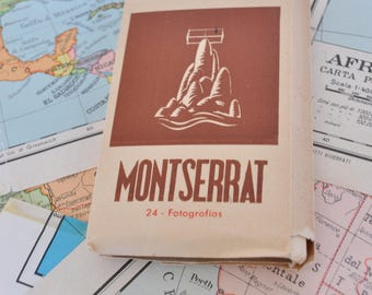 Block of souvenir photographs of the monastery of Montserrat ' 50-Spain