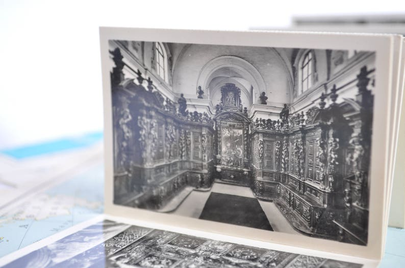 Block of souvenir postcards of the city of Parma-Italy of the years /' 50