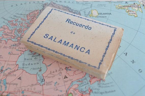 Salamanca Spanien Karte.Block Von Vintage Karten Von Salamanca Spanien
