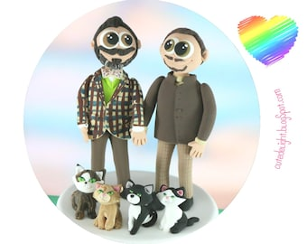 Funny Gay Wedding Cake Toppers Grabbing But Grooms Wedding Etsy