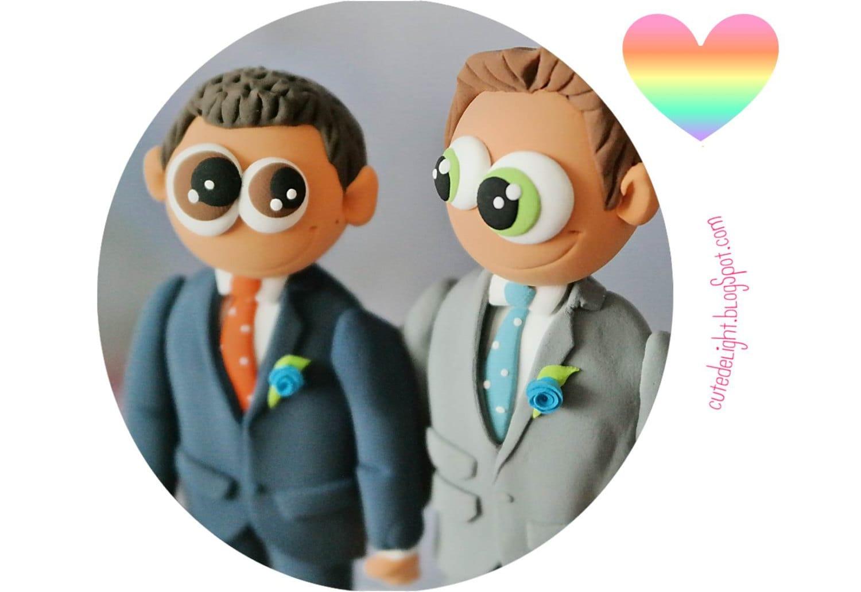 Gay wedding toppers gleiche geschlecht kuchen topper 2 etsy for Kuchen sofort lieferbar