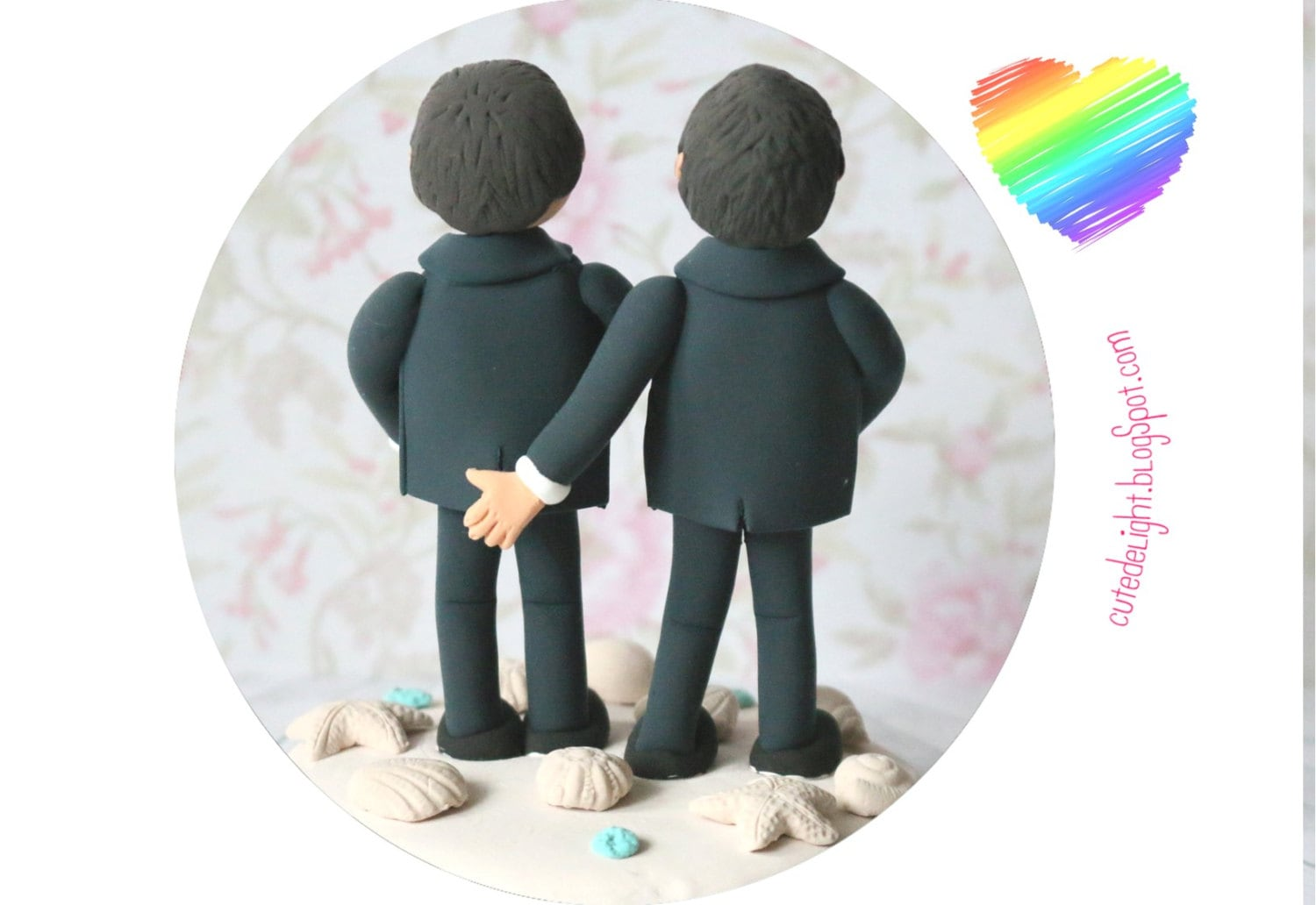 Personalized Same Sex Gay Wedding Cake Topper Acrylic Cake Silhouette Decoration For Sale Online
