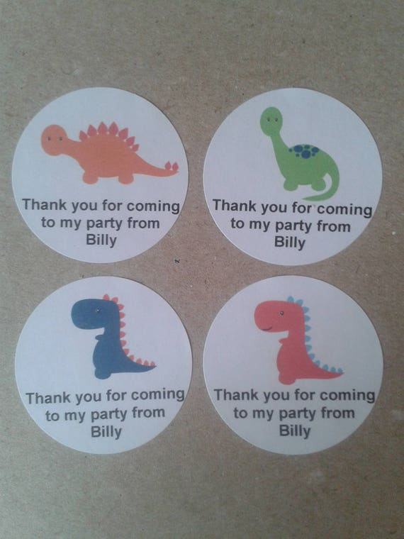 dinosaur personalised party bag stickers party favors etsy