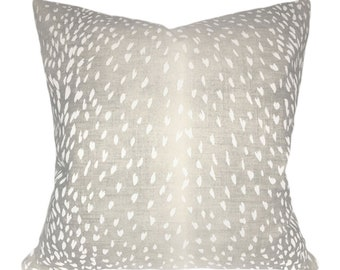 Antelope Animal Print Pillow Cover - Vern Yip - Linen Throw Pillow - Both Sides or Solid Cream Linen Back - ALL SIZES AVAILABLE