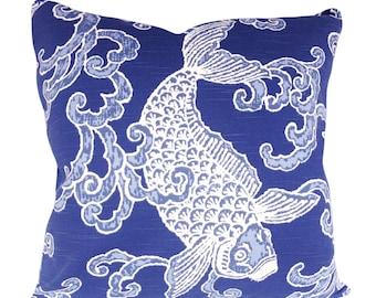 Kravet Pisces Aegean Fish Decorative Pillow Cover - Throw Pillow - Accent Pillow - Toss Pillow - Both Sides - 18x18, 20x20, 22x22