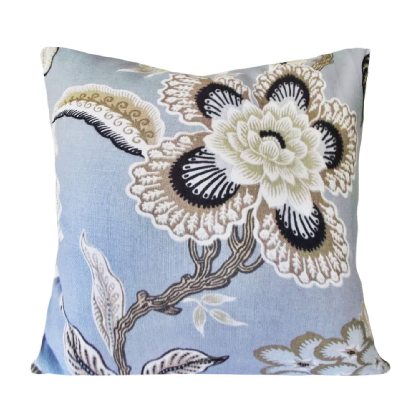 Schumacher Hothouse Flowers Mineral Decorative Pillow Cover Etsy
