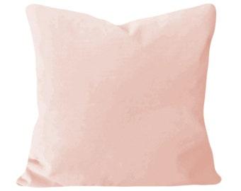 Blush Pink Velvet Pillow Cover - Throw Pillow - Accent Pillow - Both Sides - 12x16, 12x20, 14x18, 14x24, 18x18, 20x20, 22x22, 24x24, 26x26